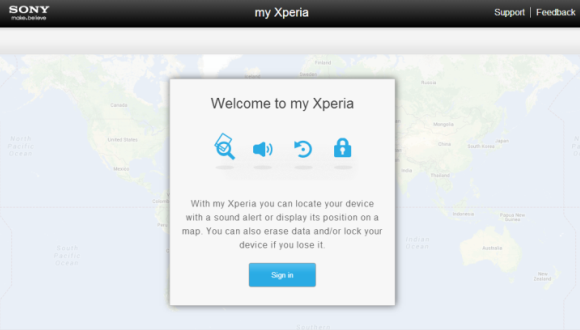 sony's my xperia phone finder