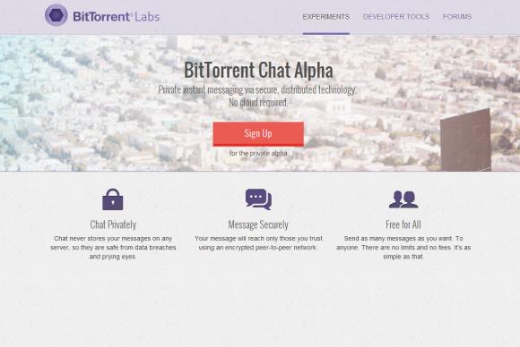 Bittorrent chat alpha