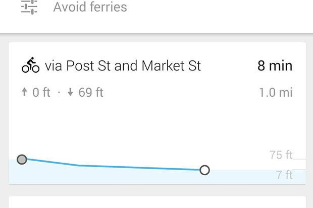 Google Maps update adds bicycle route elevations, voice commands